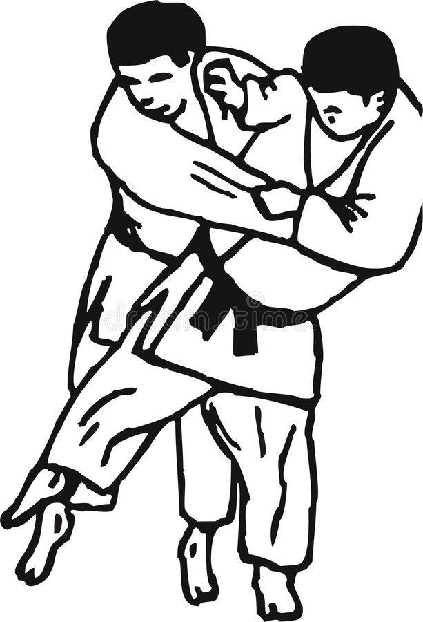 το τζούντο ρίχνει διανυσματική απεικόνιση