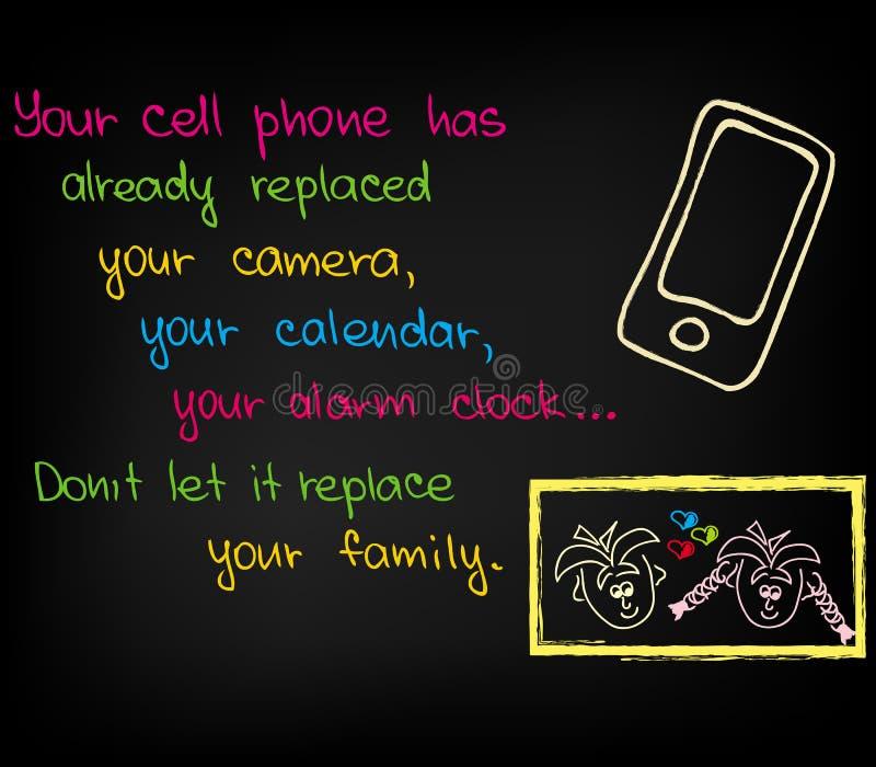 Το τηλέφωνο κυττάρων σας διανυσματική απεικόνιση