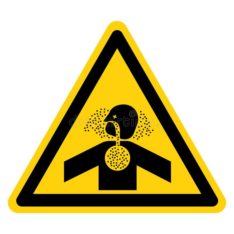 Το τοξικό σημάδι συμβόλων ασφυξίας αερίων, διανυσματική απεικόνιση, απομονώνει στην άσπρη ετικέτα υποβάθρου EPS10 ελεύθερη απεικόνιση δικαιώματος