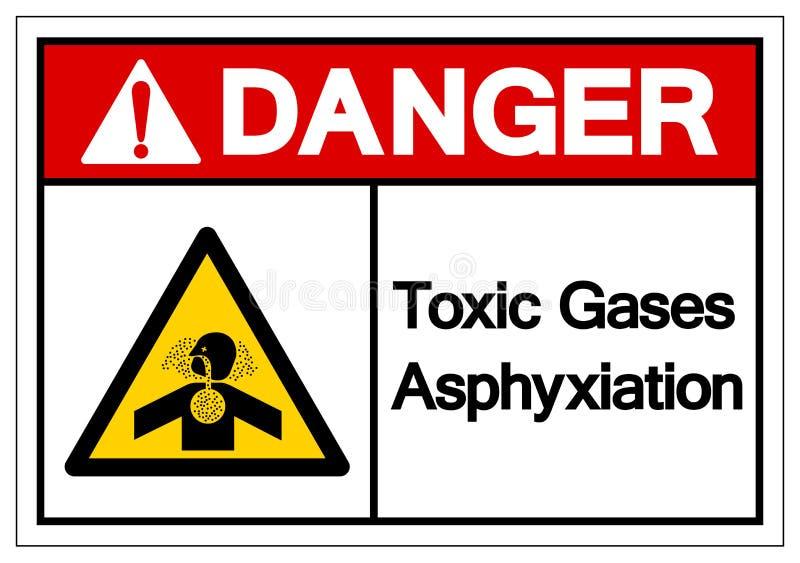 Το τοξικό σημάδι συμβόλων ασφυξίας αερίων κινδύνου, διανυσματική απεικόνιση, απομονώνει στην άσπρη ετικέτα υποβάθρου EPS10 ελεύθερη απεικόνιση δικαιώματος