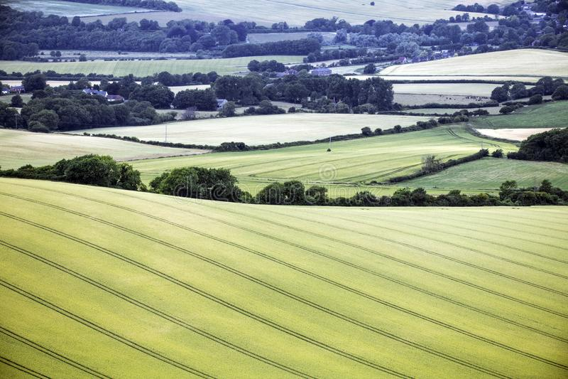 Το τοπίο καλλιέργειας στο αναγνωριστικό σήμα Firle στο ανατολικό Σάσσεξ, Αγγλία στοκ φωτογραφίες με δικαίωμα ελεύθερης χρήσης