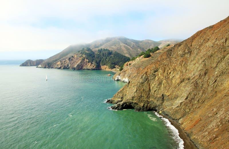 Το τοπίο κόλπων του Σαν Φρανσίσκο στοκ εικόνα με δικαίωμα ελεύθερης χρήσης