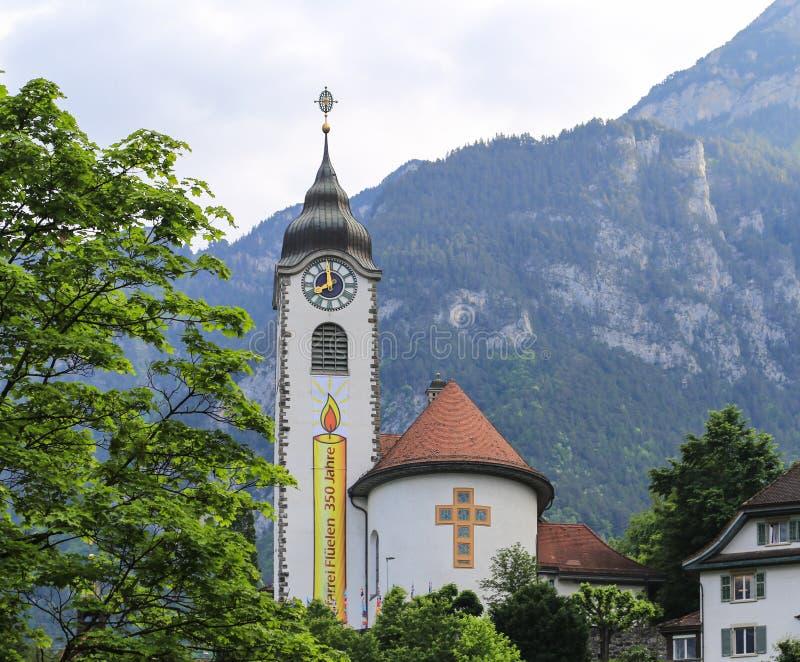 Το τοπίο σε μια πόλη, Ελβετία στοκ εικόνα με δικαίωμα ελεύθερης χρήσης