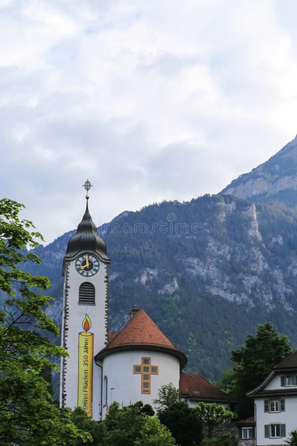 Το τοπίο σε μια πόλη, Ελβετία στοκ εικόνες με δικαίωμα ελεύθερης χρήσης