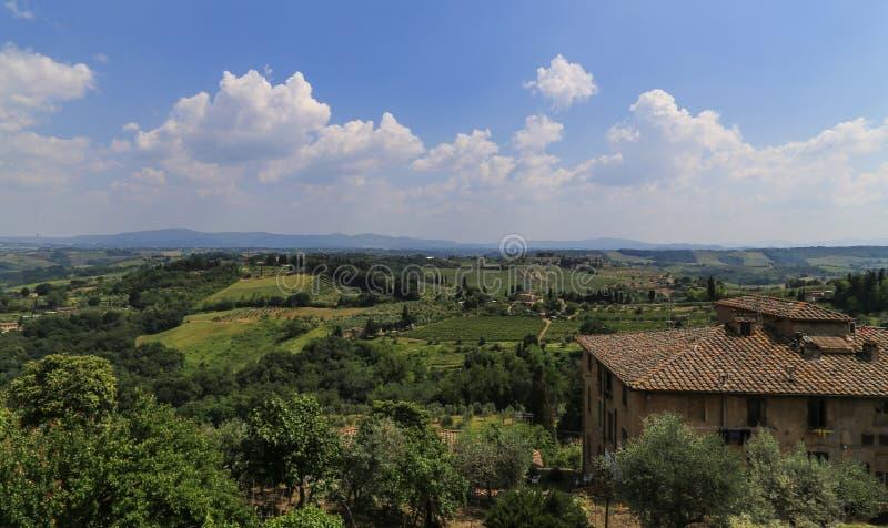 Το τοπίο σε μια πόλη, Ιταλία στοκ φωτογραφίες