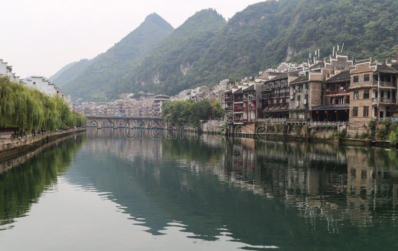 Το τοπίο στη zhenyuan αρχαία πόλη, guizhou, Κίνα στοκ εικόνες με δικαίωμα ελεύθερης χρήσης