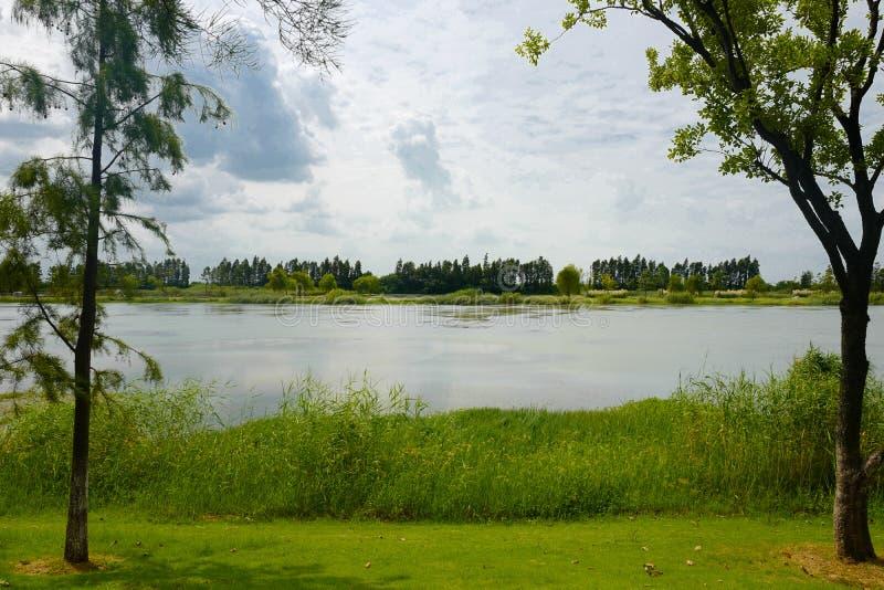 Το τοπίο της λίμνης Taihu στοκ εικόνα