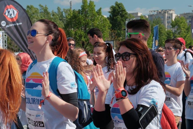 Το τρέξιμο 2017 χρώματος στο Βουκουρέστι, Ρουμανία στοκ εικόνα
