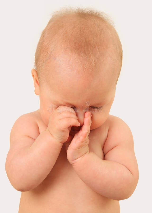 Νυσταλέο μωρό στοκ εικόνες