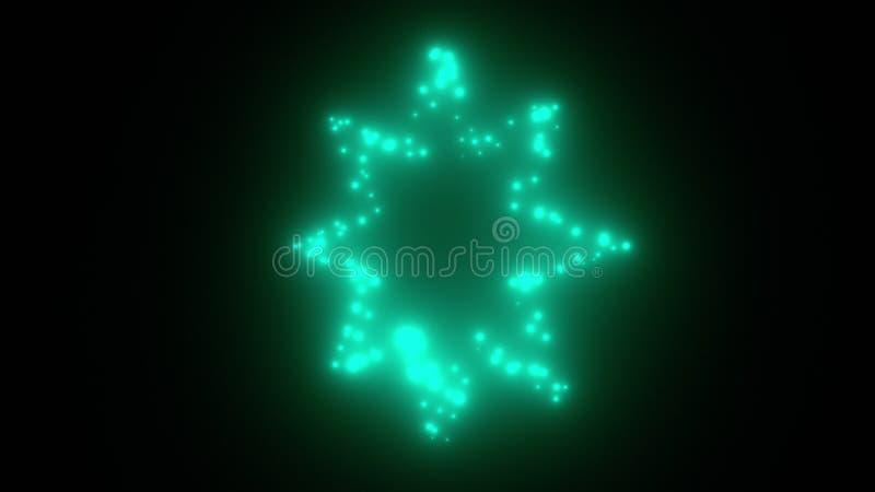 Το τρεμούλιασμα ανάβει το αστέρι στο διάστημα - το τρισδιάστατο σύγχρονο σκηνικό για το ύφος νυχτερινής ζωής, παραγμένος υπολογισ απεικόνιση αποθεμάτων