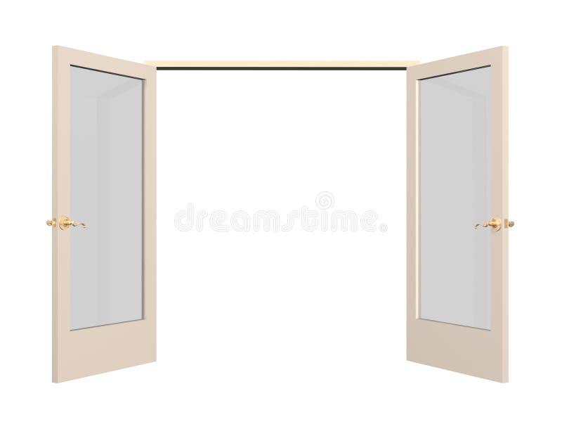 το τρισδιάστατο γυαλί πορτών παρεμβάλλει ανοικτό ελεύθερη απεικόνιση δικαιώματος