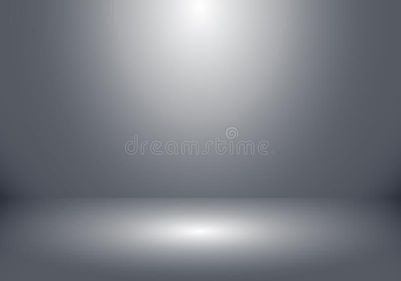 το τρισδιάστατο κενό δωμάτιο στούντιο παρουσιάζει θάλαμο για τους σχεδιαστές με το επίκεντρο επάνω ελεύθερη απεικόνιση δικαιώματος