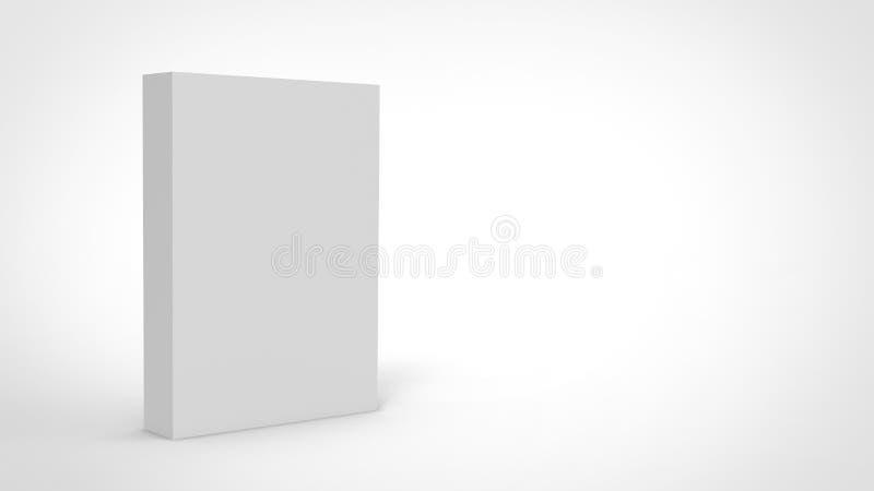 το τρισδιάστατο κιβώτιο κύβων δίνει στο απομονωμένο υπόβαθρο για το πρότυπο και το πρότυπο σχεδίου συσκευασίας προϊόντων απεικόνιση αποθεμάτων