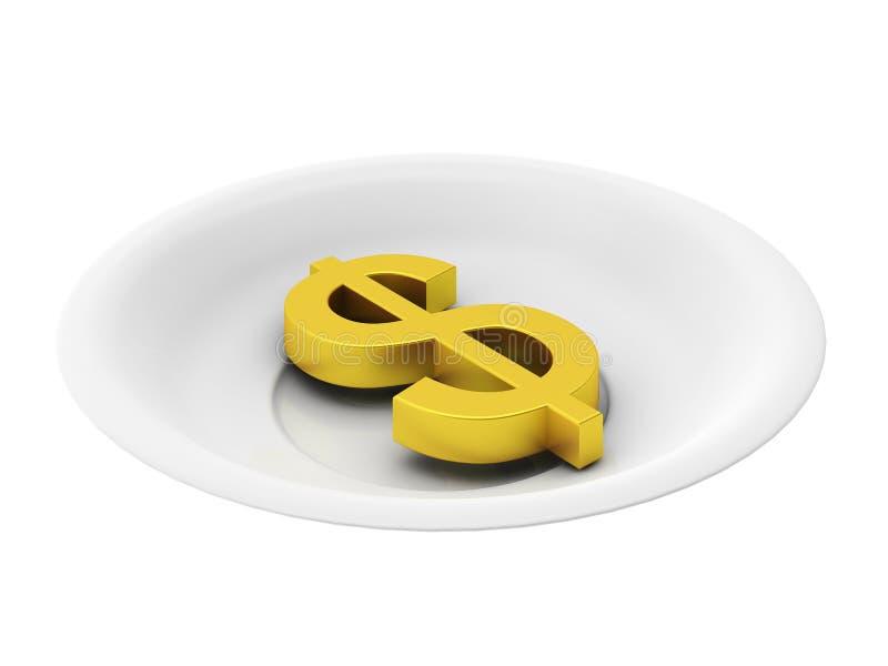 το τρισδιάστατο πιάτο δο&l διανυσματική απεικόνιση