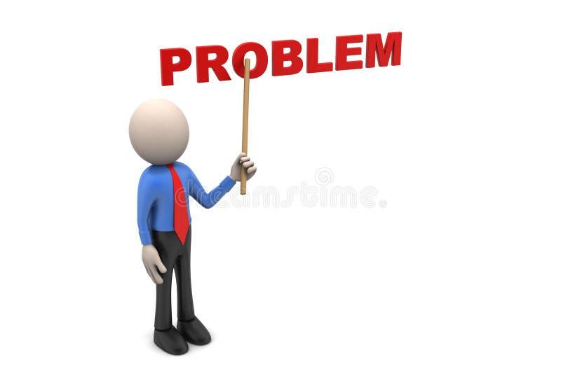 το τρισδιάστατο άτομο επισημαίνει το πρόβλημα λέξης ελεύθερη απεικόνιση δικαιώματος