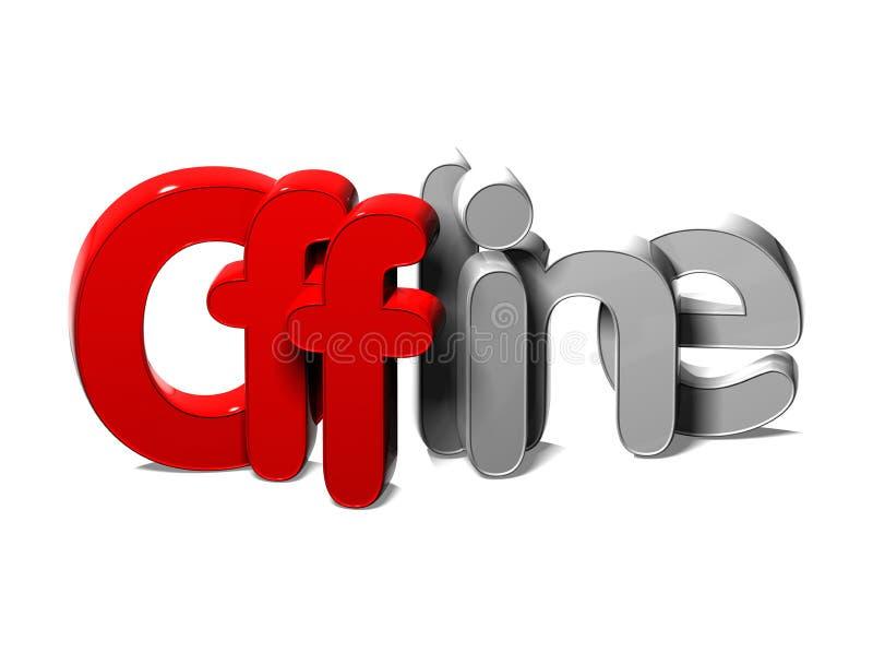 το τρισδιάστατο Word off-$l*line στο άσπρο υπόβαθρο διανυσματική απεικόνιση