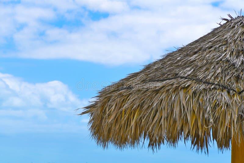 Το τροπικό tiki η στέγη χλόης στοκ εικόνες με δικαίωμα ελεύθερης χρήσης