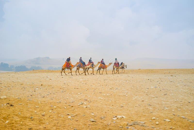Το τροχόσπιτο στη νεκρόπολη Giza, Αίγυπτος στοκ φωτογραφία με δικαίωμα ελεύθερης χρήσης