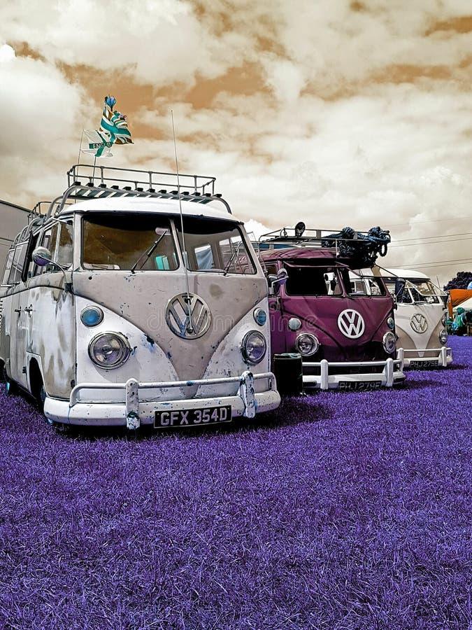 Το τροχόσπιτο της VW παρουσιάζει στοκ εικόνες με δικαίωμα ελεύθερης χρήσης