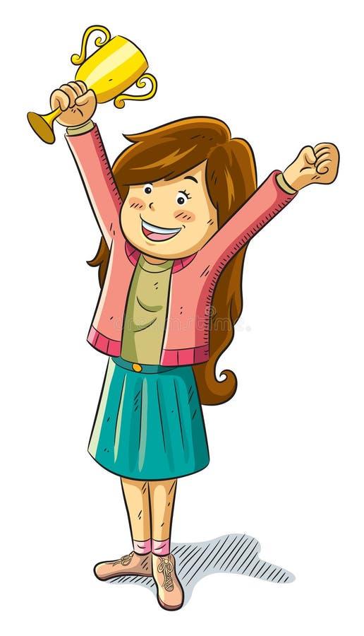 το τρόπαιο κοριτσιών κερ&delt διανυσματική απεικόνιση