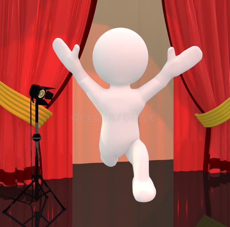 Το τσίρκο ή παρουσιάζει αστέρι απεικόνιση αποθεμάτων