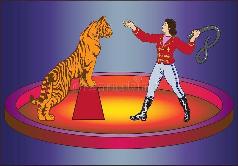 Το τσίρκο παρουσιάζει διανυσματική απεικόνιση