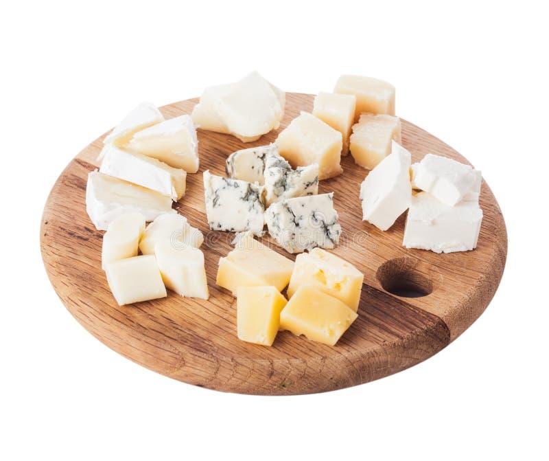 το τυρί δακτυλογραφεί διάφορο στοκ εικόνα