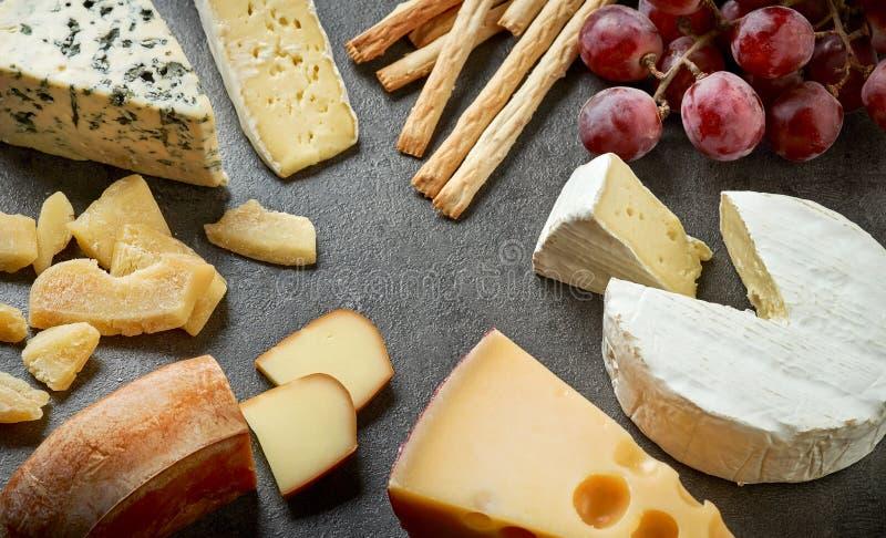 το τυρί δακτυλογραφεί διάφορο στοκ εικόνες