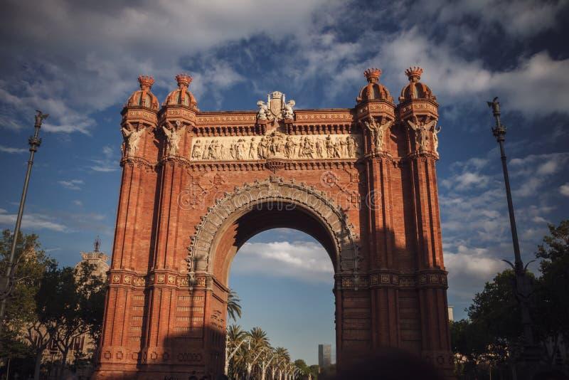 Το τόξο de Triomf στη Βαρκελώνη, Ισπανία Ταξίδι στην Ευρώπη στοκ εικόνα