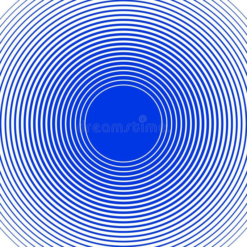 Το υγιές κύμα χτυπά το υπόβαθρο μπλε λευκό δαχτυλιδιών ελεύθερη απεικόνιση δικαιώματος