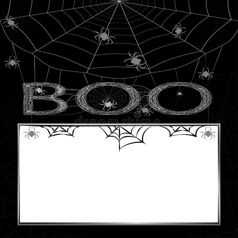 Το υπόβαθρο αποκριών με την αράχνη και τον Ιστό, τέχνασμα ή μεταχειρίζεται ελεύθερη απεικόνιση δικαιώματος