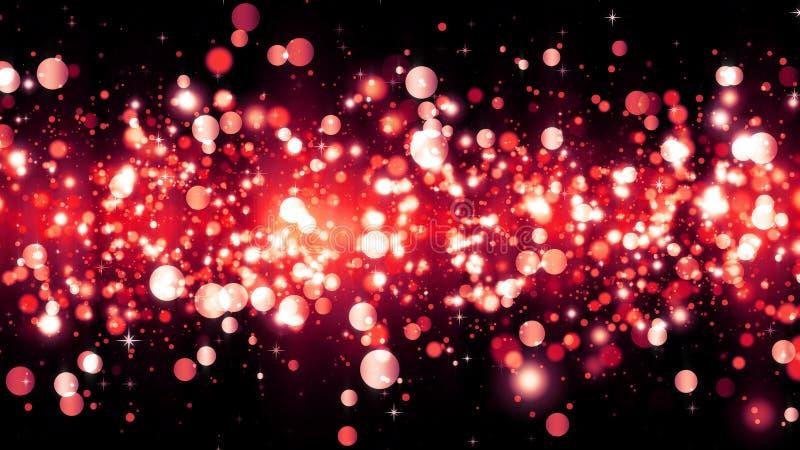 Το υπόβαθρο με το κόκκινο ακτινοβολεί μόρια Όμορφο πρότυπο υποβάθρου διακοπών για το σχέδιο ασφαλίστρου r στοκ φωτογραφία