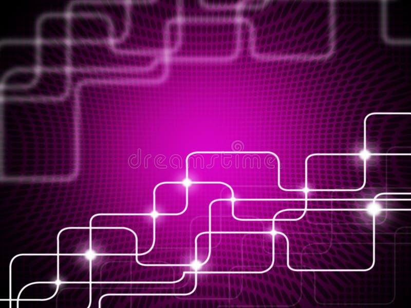 Το υπόβαθρο ορθογωνίων τετραγώνων σημαίνει την τεχνολογία και Telecommunica ελεύθερη απεικόνιση δικαιώματος