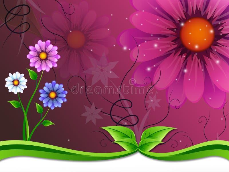 Το υπόβαθρο λουλουδιών σημαίνει και ομορφιά εξωτερικού διανυσματική απεικόνιση