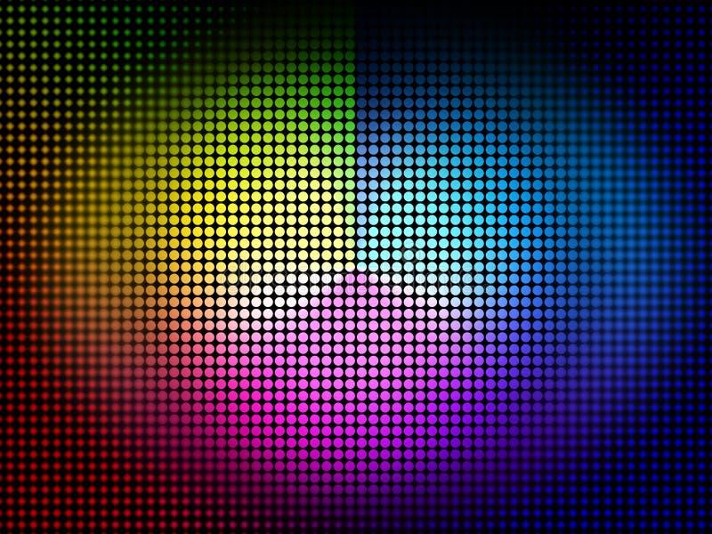 Το υπόβαθρο ροδών χρώματος σημαίνει τα χρώματα χρωμάτων και χρωματικός ελεύθερη απεικόνιση δικαιώματος