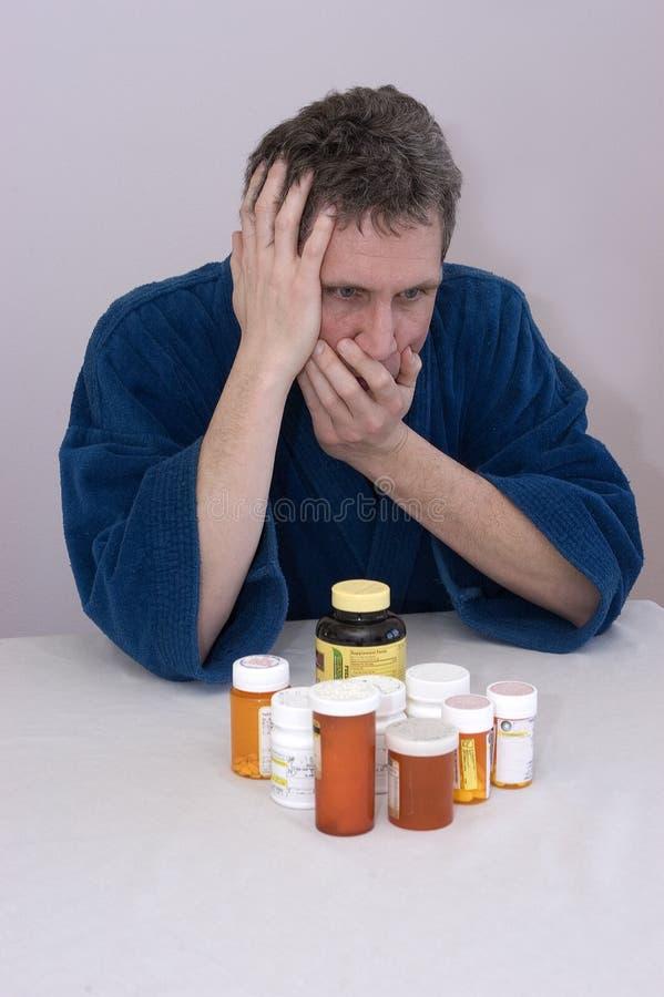 το φάρμακο κατάθλιψης εκδίδει τη συνταγή στοκ εικόνα