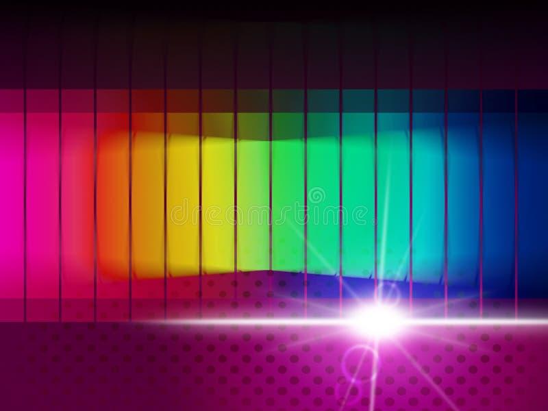 Το φάσμα πυράκτωσης παρουσιάζει οδηγό χρώματος και χρωματικός ελεύθερη απεικόνιση δικαιώματος