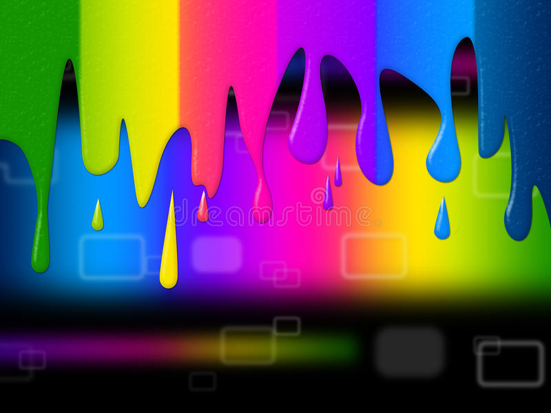 Το φάσμα Copyspace δείχνει Swatch και το χρώμα χρώματος απεικόνιση αποθεμάτων