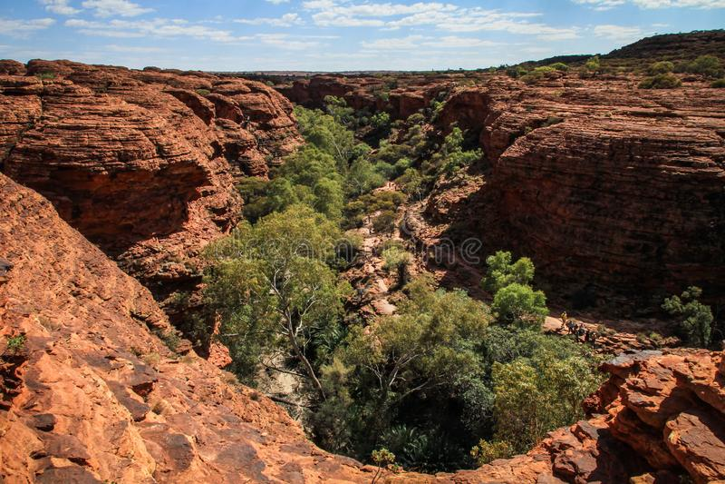 Το φαράγγι του εντυπωσιακού βασιλιά, Βόρεια Περιοχή, Αυστραλία στοκ φωτογραφία