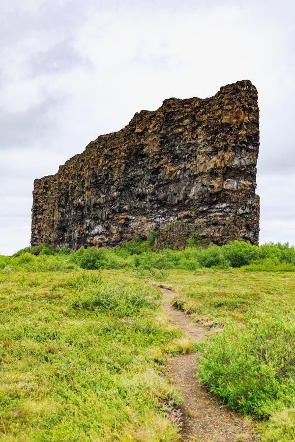 Το φαράγγι asbyrgi στο εθνικό πάρκο vatnajokull στοκ φωτογραφία με δικαίωμα ελεύθερης χρήσης