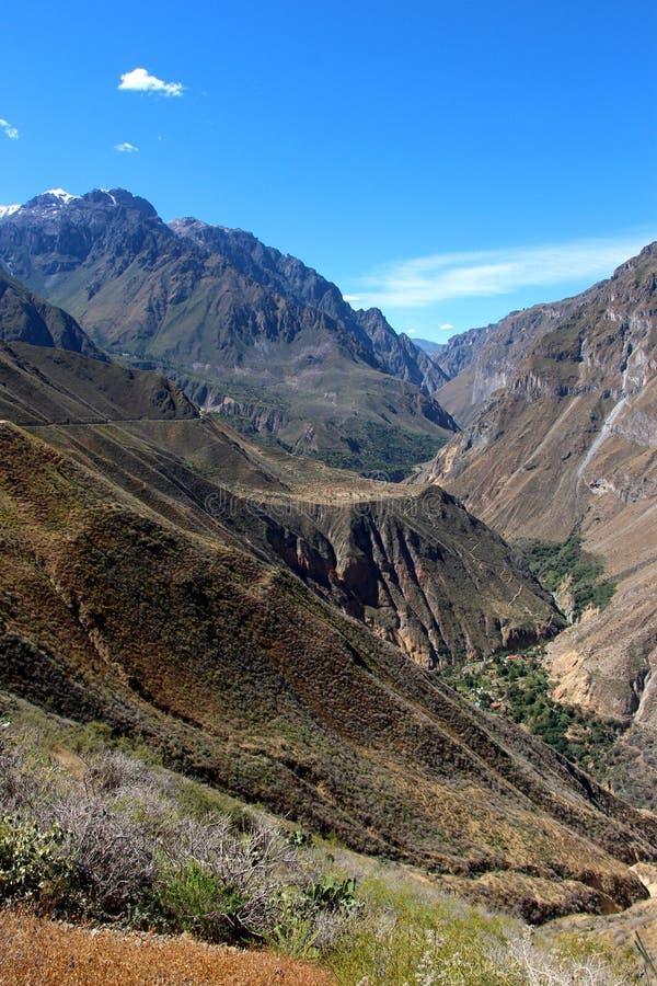 Το φαράγγι Colca στοκ εικόνα με δικαίωμα ελεύθερης χρήσης