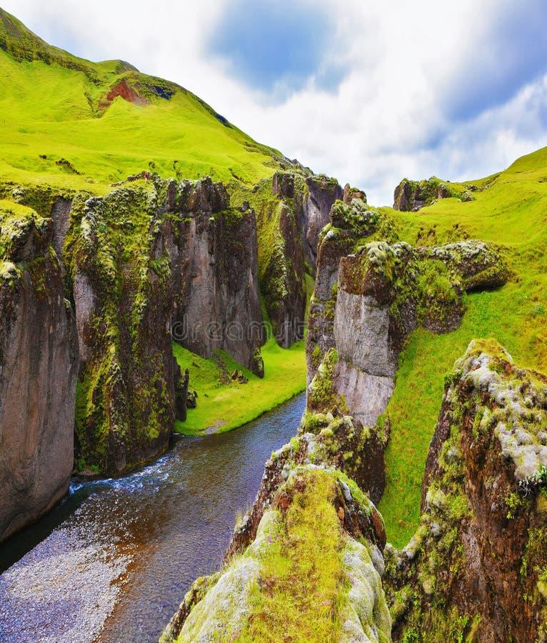 Το φαράγγι Fjadrargljufur στοκ φωτογραφία με δικαίωμα ελεύθερης χρήσης