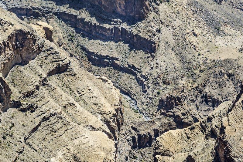 Το φαράγγι Jebel υποκρίνεται στοκ εικόνα με δικαίωμα ελεύθερης χρήσης