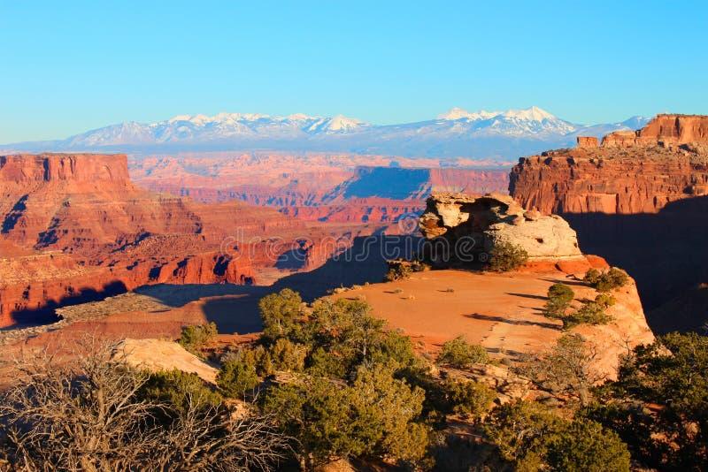 Το φαράγγι Shafer αγνοεί Canyonlands στοκ εικόνα