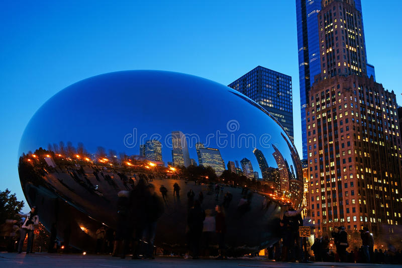 Το φασόλι του Σικάγου, ΗΠΑ στοκ φωτογραφίες με δικαίωμα ελεύθερης χρήσης