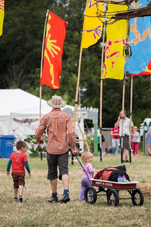 Το φεστιβάλ δέντρων Larmer, Tollard βασιλικό, Wiltshire, UK στοκ εικόνες