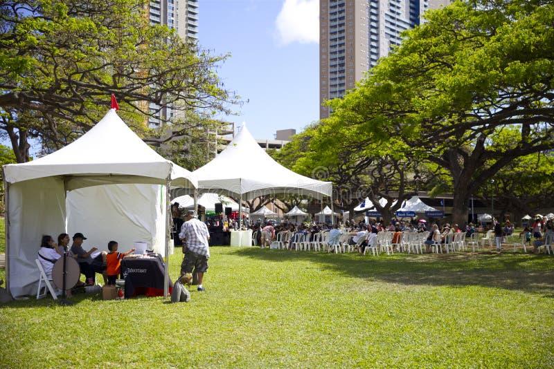 Το φεστιβάλ βιβλίων και μουσικής της Χαβάης στοκ φωτογραφία με δικαίωμα ελεύθερης χρήσης
