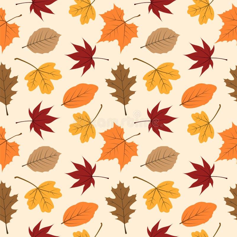 Το φθινόπωρο αφήνει το άνευ ραφής σχέδιο 04 ελεύθερη απεικόνιση δικαιώματος