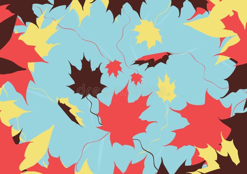 το φθινόπωρο αφήνει τα χρώματα στοκ εικόνες