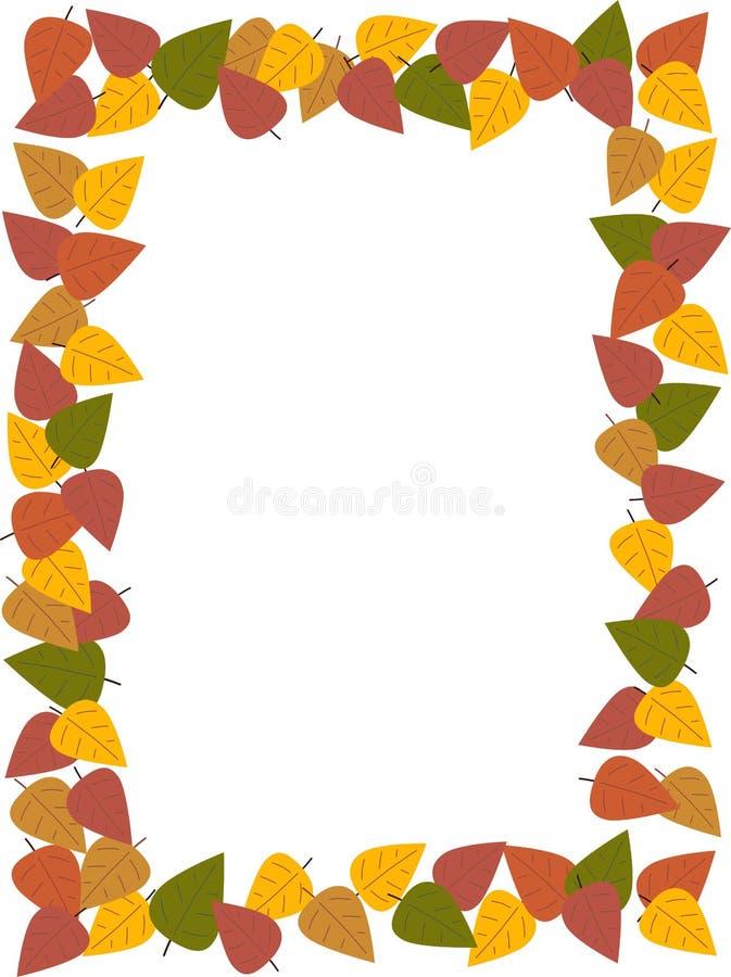 Το φθινόπωρο αφήνει το πλαίσιο ή τα σύνορα ελεύθερη απεικόνιση δικαιώματος